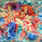 Картины и панно handmade. Livemaster - original item Pictures: Painting abstract oil acrylic