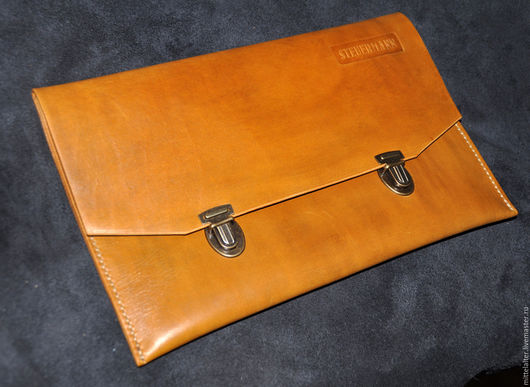 Женские сумки ручной работы. Ярмарка Мастеров - ручная работа. Купить Клатч из натуральной кожи. Handmade. Оранжевый, клатч женский
