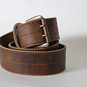 Аксессуары handmade. Livemaster - original item Wide officer`s belt 5cm width 4 mm thickness. Handmade.