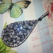 Украшения handmade. Livemaster - original item Rhinestone pendant, silver, rhodium plated.. Handmade.