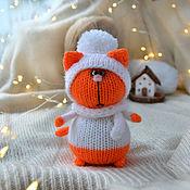 handmade. Livemaster - original item Mandarin cat in a hat and scarf. Handmade.