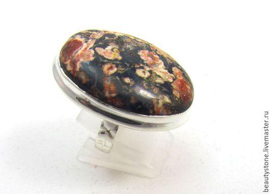 Кольца ручной работы. Ярмарка Мастеров - ручная работа. Купить Кольцо с  яшмой леопардовой (2). Handmade. Кольцо с яшмой