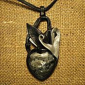 Украшения ручной работы. Ярмарка Мастеров - ручная работа Черное сердце. Handmade.