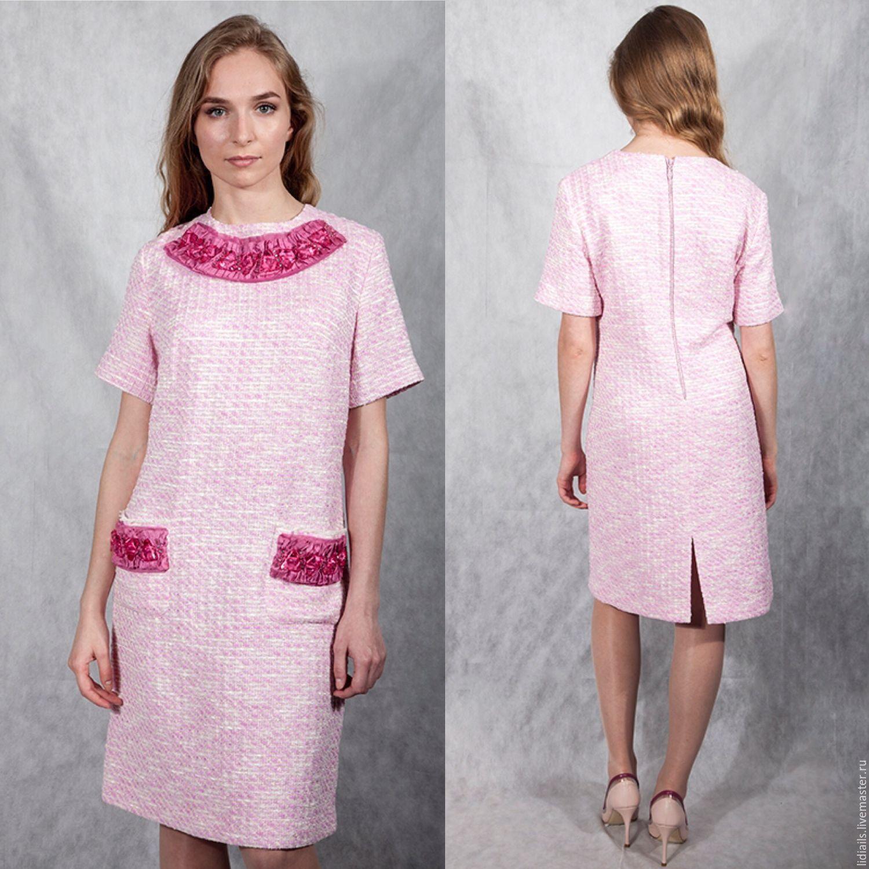 Dresses Handmade Livemaster Pink Chanel Dress Evening