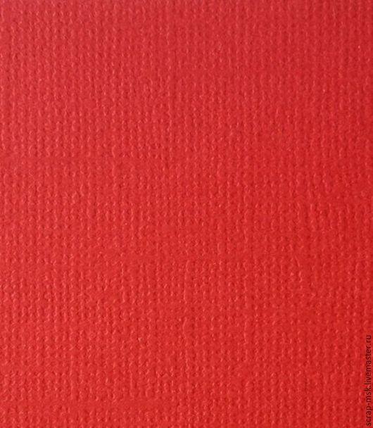 Открытки и скрапбукинг ручной работы. Ярмарка Мастеров - ручная работа. Купить Кардсток текстурированный Красный 12069. Handmade. Бумага для скрапа
