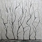 Картины и панно ручной работы. Ярмарка Мастеров - ручная работа Картина маслом белый пейзаж. Handmade.