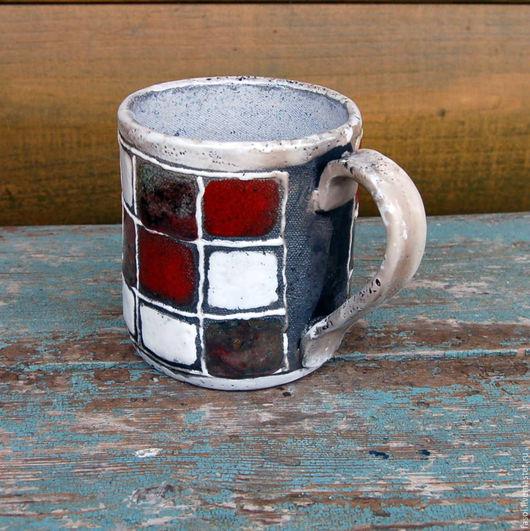 Кружки и чашки ручной работы. Ярмарка Мастеров - ручная работа. Купить Чашка керамическая раку 3. Handmade. кракле, комбинированный