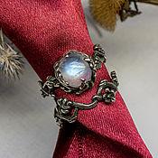 handmade. Livemaster - original item Wedding set made of silver with a moonstone