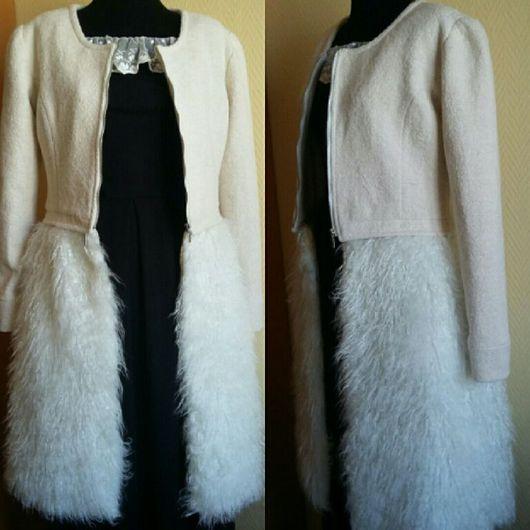 Верхняя одежда ручной работы. Ярмарка Мастеров - ручная работа. Купить Пальто-трансформер с мехом. Handmade. Пальто, пальто-трансформер
