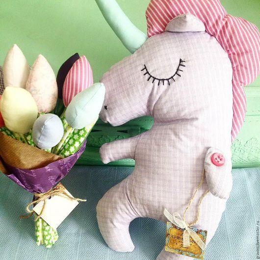 """Игрушки животные, ручной работы. Ярмарка Мастеров - ручная работа. Купить Игрушка сплюшка """"Единорожек"""". Handmade. Бледно-розовый, для новорожденного"""