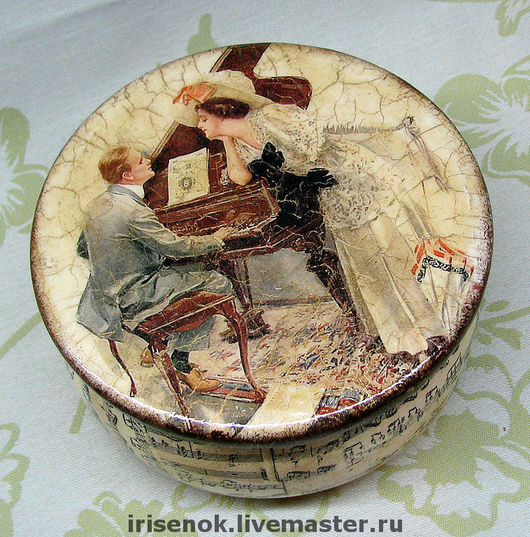 Trinket Boxes handmade. Livemaster - handmade. Buy 'Vintage romance' box.Jewelry box, gentleman, sheet music, retro