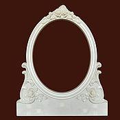 Материалы для творчества handmade. Livemaster - original item Large mirror frame (plastic). Rod decor.. Handmade.