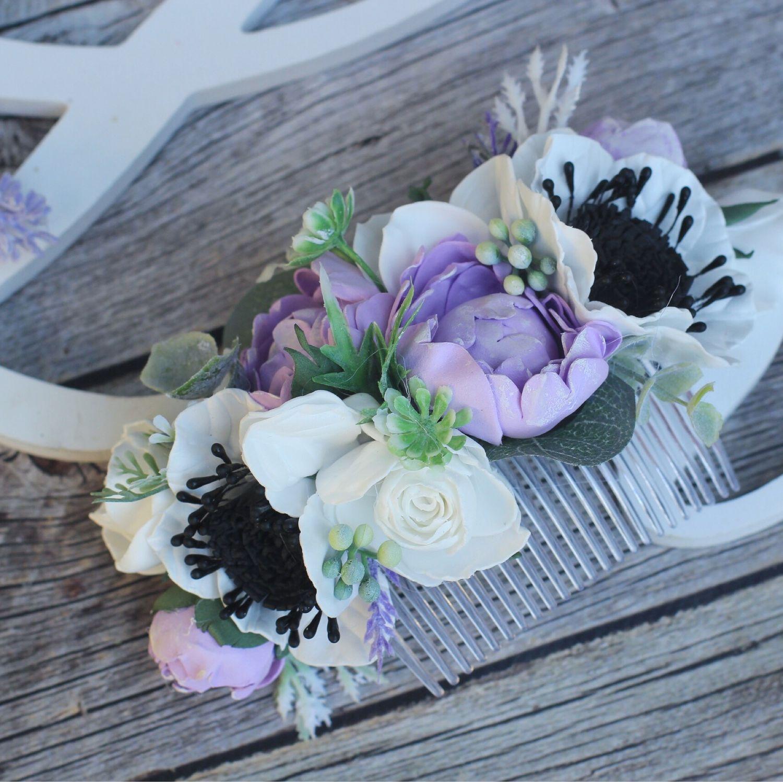 Свадебные украшения ручной работы. Ярмарка Мастеров - ручная работа. Купить Гребень с цветами , браслет с цветами   ,свадебный гребень, бутоньерка. Handmade.