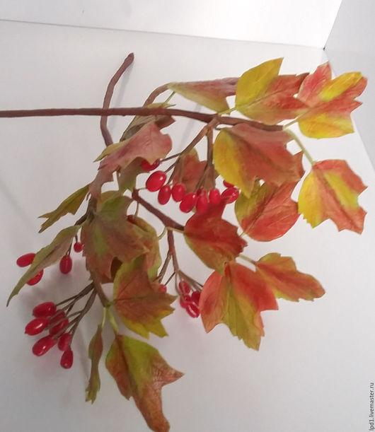 Цветы ручной работы. Ярмарка Мастеров - ручная работа. Купить Калина красная. Handmade. Ярко-красный, запекаемая пластика