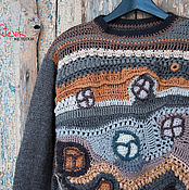 Одежда handmade. Livemaster - original item Men`s knitted sweater from the