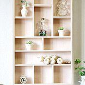 Для дома и интерьера handmade. Livemaster - original item Wooden shelf with hooks. Handmade.