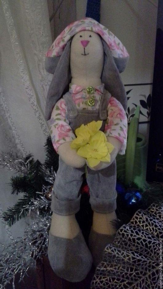 Куклы Тильды ручной работы. Ярмарка Мастеров - ручная работа. Купить зайка в подарок. Handmade. Комбинированный, зайка игрушка