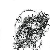 """Картины и панно ручной работы. Ярмарка Мастеров - ручная работа Графика """"Веер"""". Handmade."""