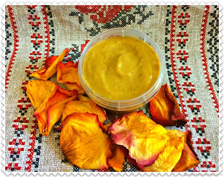 """Бальзам для губ ручной работы. Ярмарка Мастеров - ручная работа. Купить Очищающая маска для лица """"Жива"""" с желтой глиной и ананасом. Handmade."""