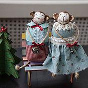Куклы и игрушки ручной работы. Ярмарка Мастеров - ручная работа Обезьянки, овцы, зайки и мышки. Handmade.