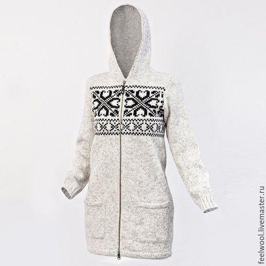 Кофты и свитера ручной работы. Ярмарка Мастеров - ручная работа. Купить Женский свитер на молнии из 100% новозеландской шерсти. Handmade.
