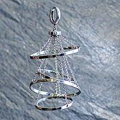 Single earring handmade. Livemaster - original item MONOCERA LOHJA FROM THE COLLECTION OF LIGHT. Handmade.