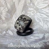 Украшения ручной работы. Ярмарка Мастеров - ручная работа браслет деревянный Чёрное кружево. Handmade.