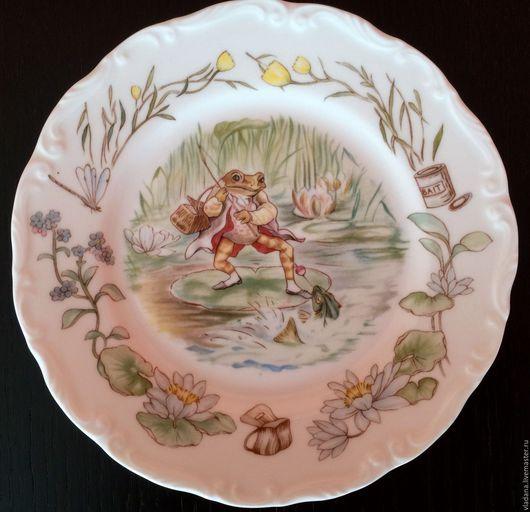 Винтажная посуда. Ярмарка Мастеров - ручная работа. Купить Фарфоровая тарелка по рисункам Beatrix Potter от Royal Albert .. Handmade. Фарфор