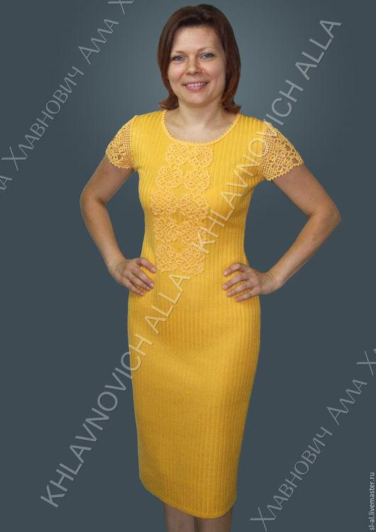 """Платья ручной работы. Ярмарка Мастеров - ручная работа. Купить Платье """"Ярославна"""" Модель №345. Handmade. Желтый, нарядное платье"""