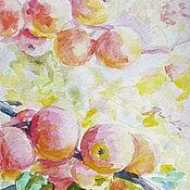 """Картины и панно ручной работы. Ярмарка Мастеров - ручная работа Акварель """"Яблоневый сад"""". Handmade."""