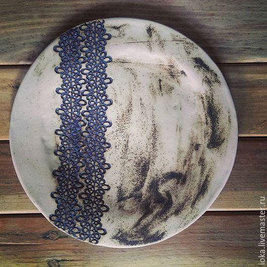 Тарелки ручной работы. Ярмарка Мастеров - ручная работа. Купить Кант. Handmade. Чёрно-белый, бежевый, белый, Керамика
