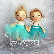Куклы и игрушки ручной работы. Ярмарка Мастеров - ручная работа А мир , оказывается, так прекрасен!!! балеринки - крошки:). Handmade.