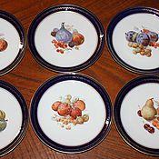 Винтаж handmade. Livemaster - original item Antique plates