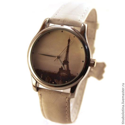 Часы ручной работы. Ярмарка Мастеров - ручная работа. Купить Дизайнерские наручные часы Париж. Handmade. Прикольные часы купить
