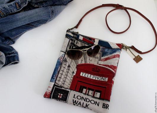 """Женские сумки ручной работы. Ярмарка Мастеров - ручная работа. Купить Сумка планшет """"Лондон"""". Handmade. Комбинированный, планшет, англия"""