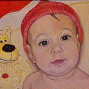 Картины и панно ручной работы. Ярмарка Мастеров - ручная работа Детский портрет. Малявочка. Холст, масло.. Handmade.