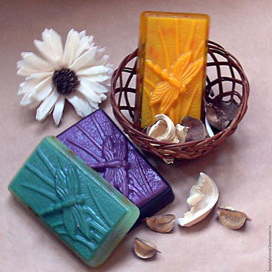 Мыло ручной работы. Ярмарка Мастеров - ручная работа. Купить мыло стрекоза. Handmade. Комбинированный, лавандовое мыло, ромашка