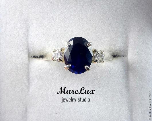 """Кольца ручной работы. Ярмарка Мастеров - ручная работа. Купить Кольцо """"Бесконечно синий"""". Handmade. Тёмно-синий, украшение"""