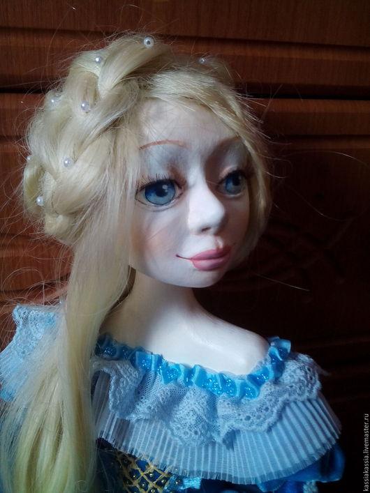 Коллекционные куклы ручной работы. Ярмарка Мастеров - ручная работа. Купить будуарная коллекционная кукла. Handmade. Голубой, самоотвердевающий пластик