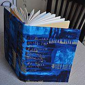Канцелярские товары ручной работы. Ярмарка Мастеров - ручная работа Синий блокнот. Handmade.