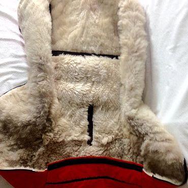 Сумки и аксессуары ручной работы. Ярмарка Мастеров - ручная работа Чехол из овчины в коляску. Handmade.