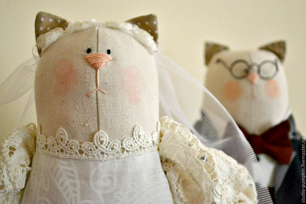 Тильды коты свадебные