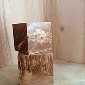 Статуэтки ручной работы. Ярмарка Мастеров - ручная работа Кубик из стабилизированной карельской березы. Handmade.
