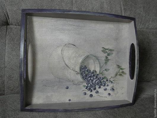 Кухня ручной работы. Ярмарка Мастеров - ручная работа. Купить поднос Лесная ягода. Handmade. Декупаж работы, кухня