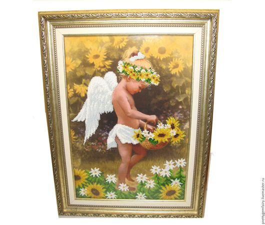 Люди, ручной работы. Ярмарка Мастеров - ручная работа. Купить Картина Мой ангел. Handmade. Комбинированный, картина, картина в подарок