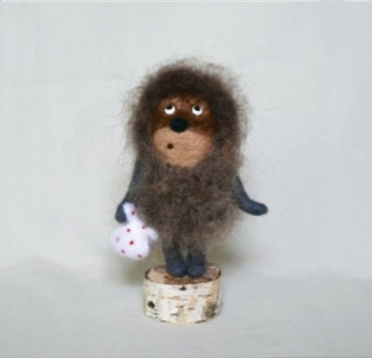"""Игрушки животные, ручной работы. Ярмарка Мастеров - ручная работа. Купить """"Ежик в тумане"""" валяная (войлочная) игрушка из шерсти. Handmade."""