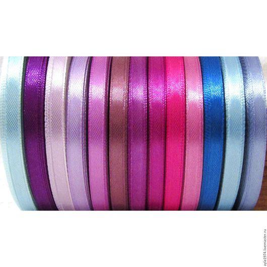 Открытки и скрапбукинг ручной работы. Ярмарка Мастеров - ручная работа. Купить Лента атласная 6 мм,13 цветов. Handmade.