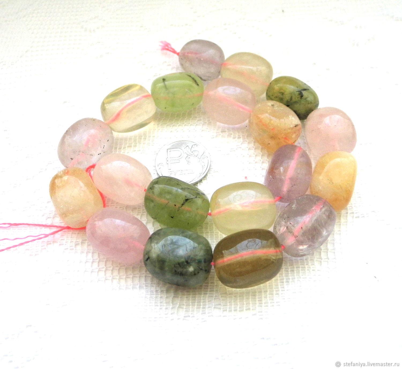 Для украшений ручной работы. Ярмарка Мастеров - ручная работа. Купить Самоцветы 19 камней набор бусины галтовка цитрин аметист пренит кварц розовый. Handmade.