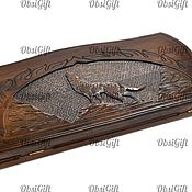 Активный отдых и развлечения handmade. Livemaster - original item Backgammon carved without handle