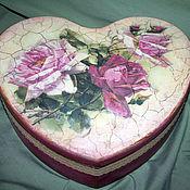 """Для дома и интерьера ручной работы. Ярмарка Мастеров - ручная работа Шкатулки """"Розовые сердца"""". Handmade."""